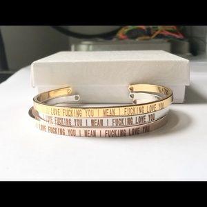 Laser Engraved Cuff Bracelets, NWOT